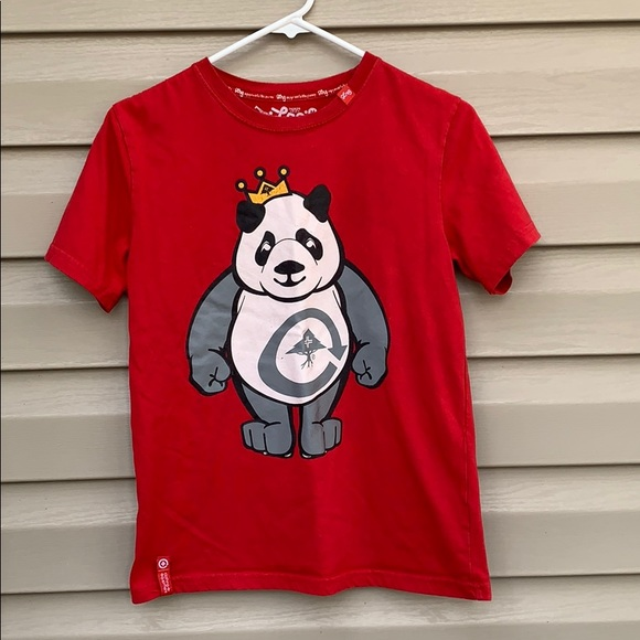 Lrg Other - Lrg boy's red tee shirt with Panda on front
